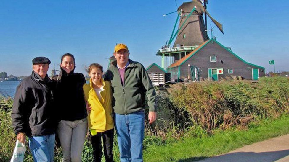 Gillian Tapp and her family in the Netherlands (Credit: Gillian Tapp)