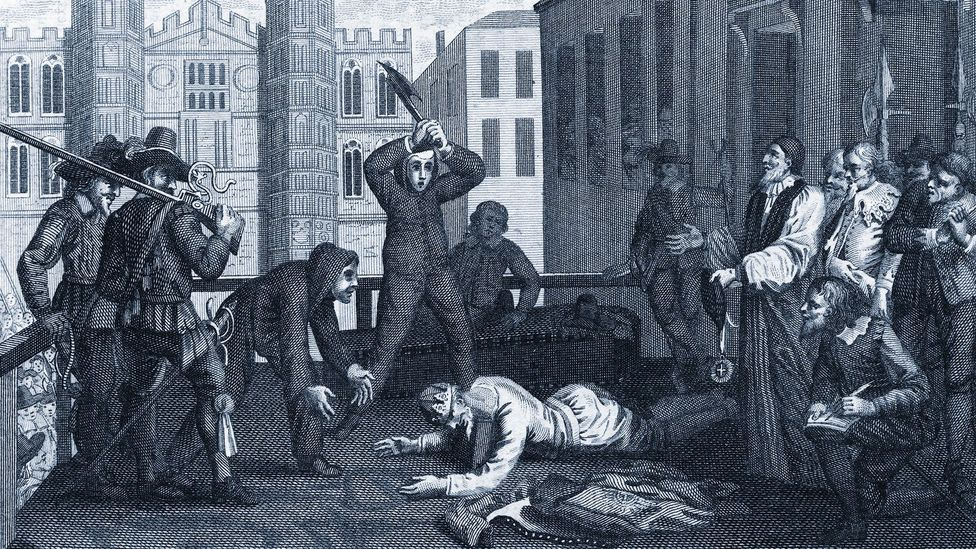 The beheading of King Charles I still haunts the English imagination – the act of severing a head can be read as an assault on reason, control and power (Credit: Getty Images)