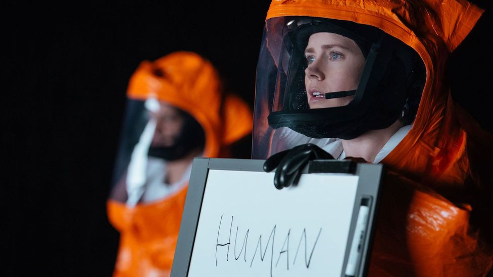 In Arrival, Amy Adams stars as a linguist brought in by the US military to decipher the language of mysterious aliens who have landed on Earth (Credit: Paramount Pictures)