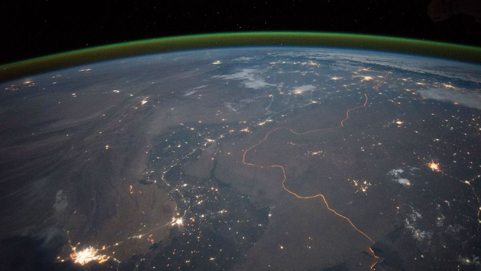 The India-Pakistan border from space (Credit: Nasa)