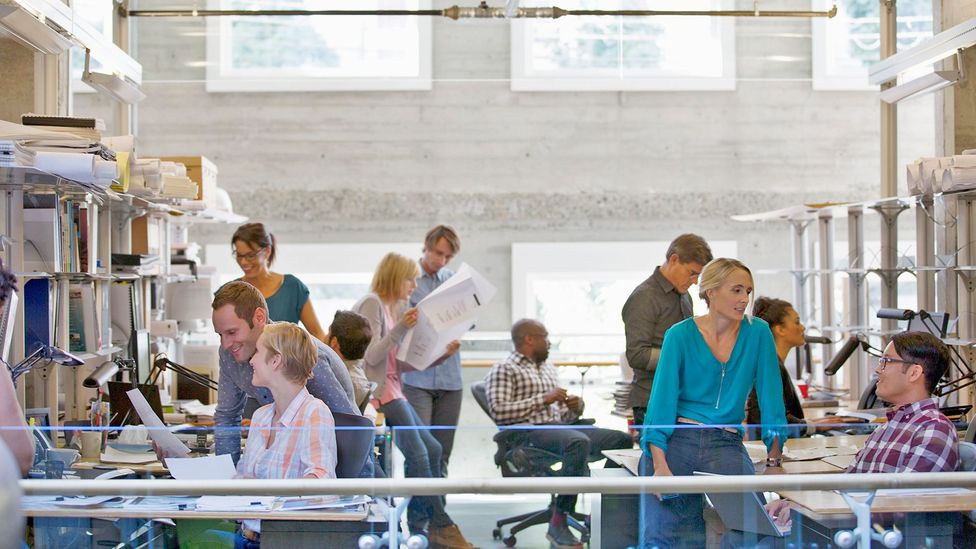 The buzz of the open office is increasingly causing frustration among workers (Credit: Getty Images)