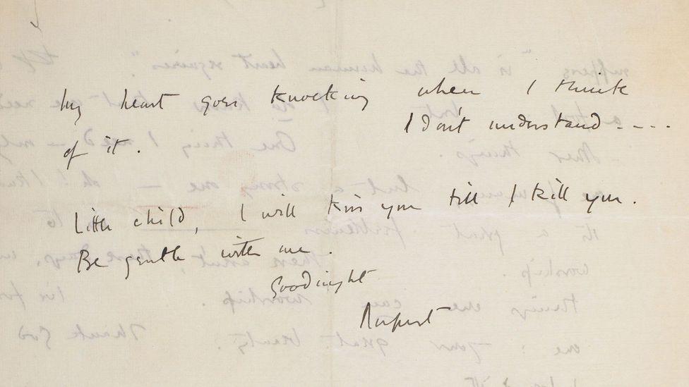 Rupert Brooke to Cathleen Nesbitt, 1913 (Credit: British Library)