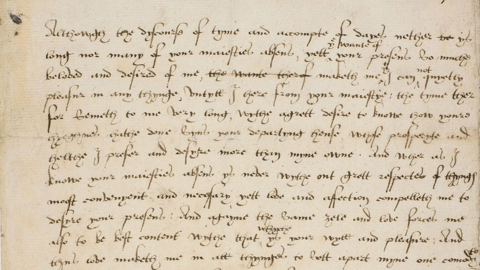 Katherine Parr to Henry VIII, July 1544 (Credit: British Library)