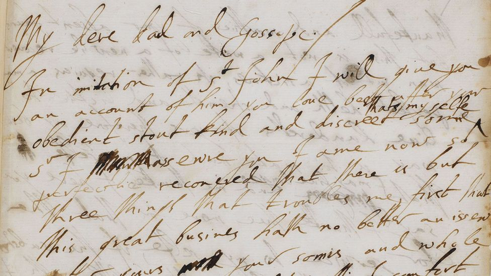 George Villiers to James I, 29 August 1623 (Credit: British Library)