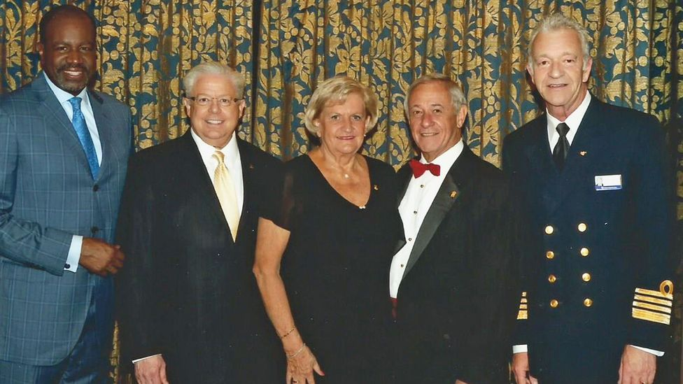 The Yetkes were inducted into the President's Club this year.  It's the highest level of repeat cruisers on Holland America, 1,400 sailed days.(Credit: Courtesy of the Yetkes)