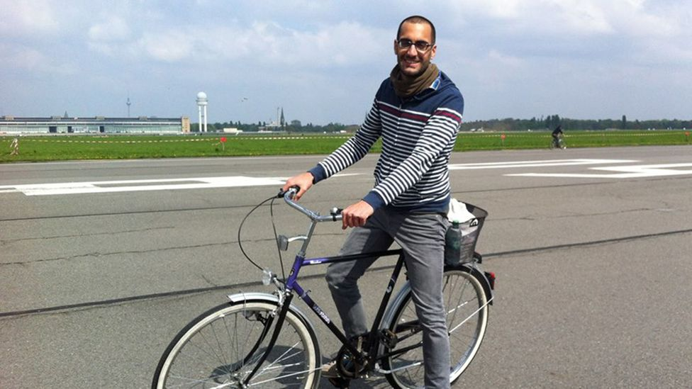 Benny Horn on his bike in Germany (Credit: Benny Horn)