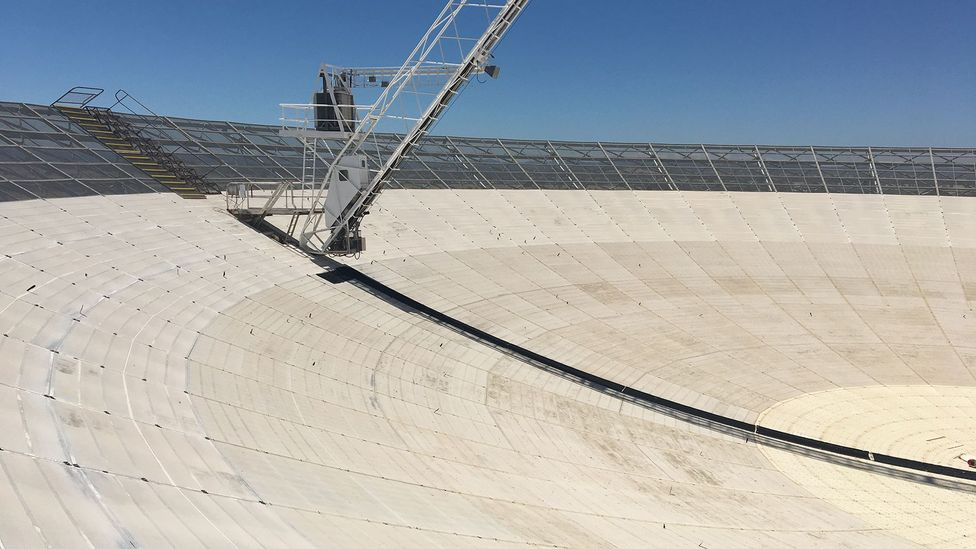 The dish is enormous, around an acre in size (Credit: Boffin Media)