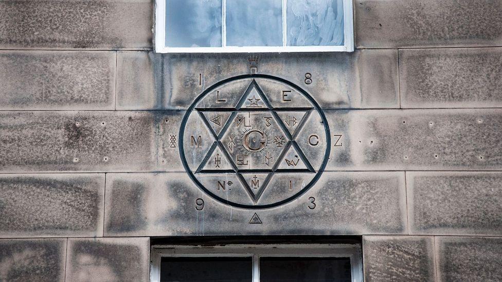 At 19 Hill Street, look up to see this six-pointed star, a Masonic symbol (Credit: Amanda Ruggeri)