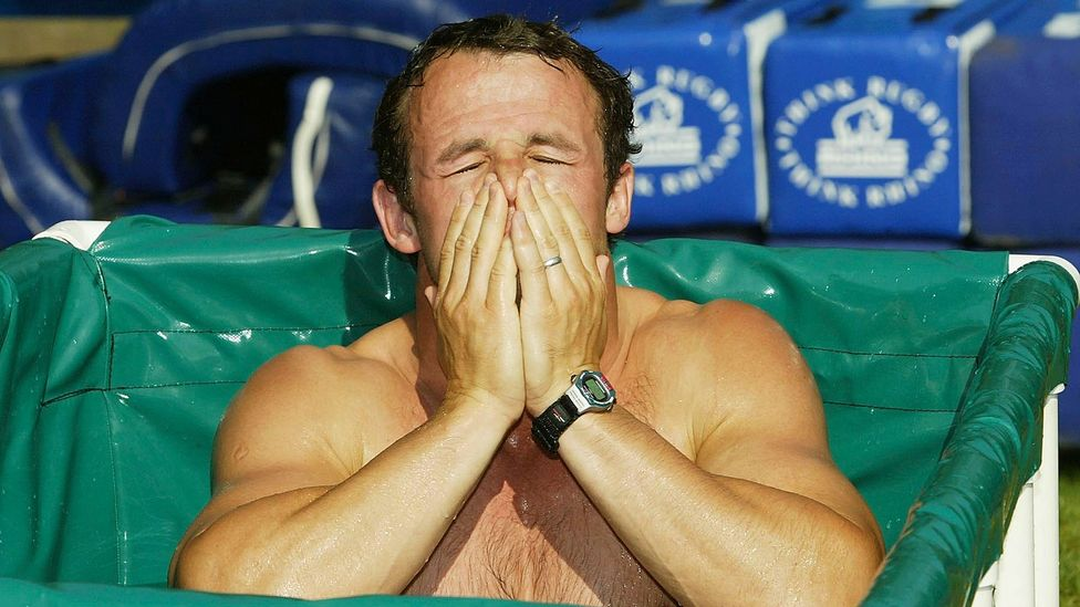 Many top athletes put up with the discomfort of ice baths because they believe it helps them (Credit: Getty Images)