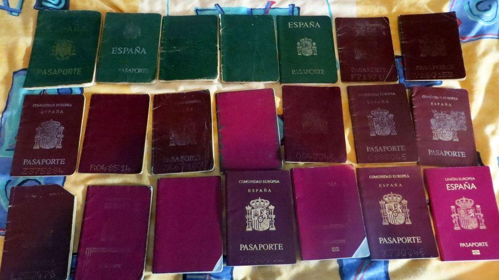 Sanchez now has 21 passports (Credit: Jorge Sanchez)