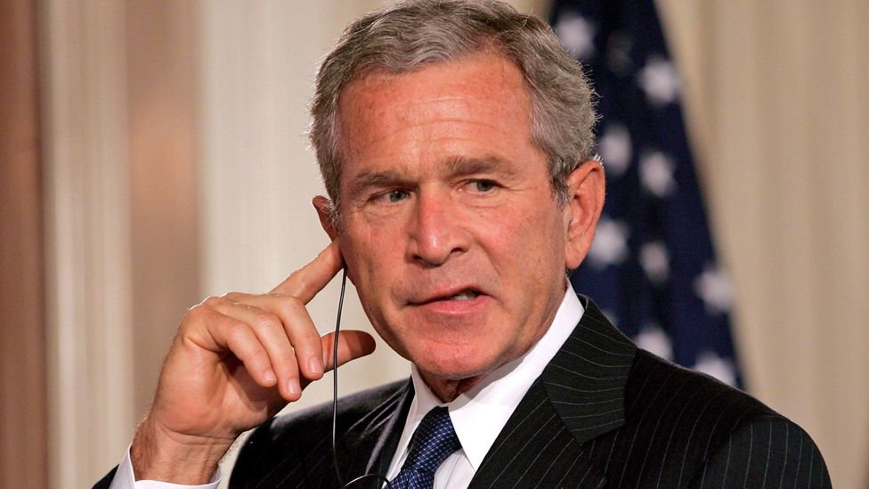 During his presidency, George W. Bush was known for garbling his English (Credit: Alamy)