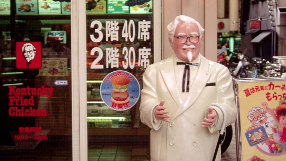 After the manager of Japan's first KFC overheard foreigners talk of how they missed Christmas turkey, a nationwide tradition was born (Credit: Getty Images)