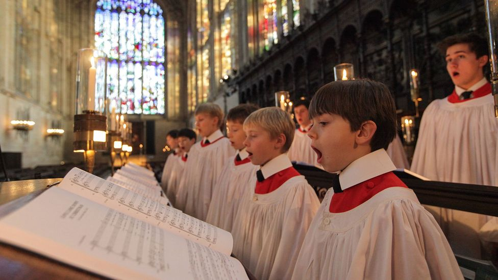 The most famous carol service is the Festival of Nine Lessons and Carols held each year in the chapel of King's College, Cambridge (Credit: Alamy)