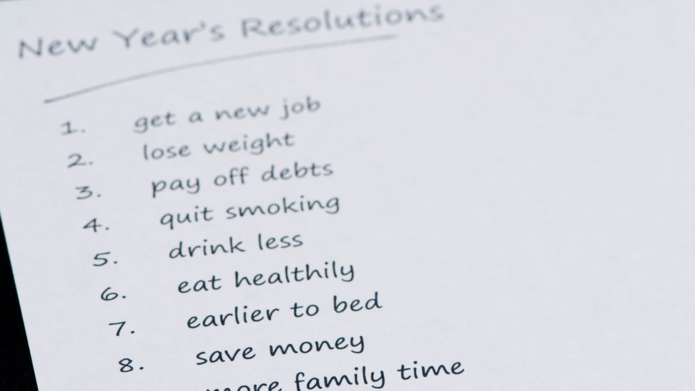 Research shows that only 8% of people who have made a New Year's resolution were able to meet their goal (Credit: Alamy)