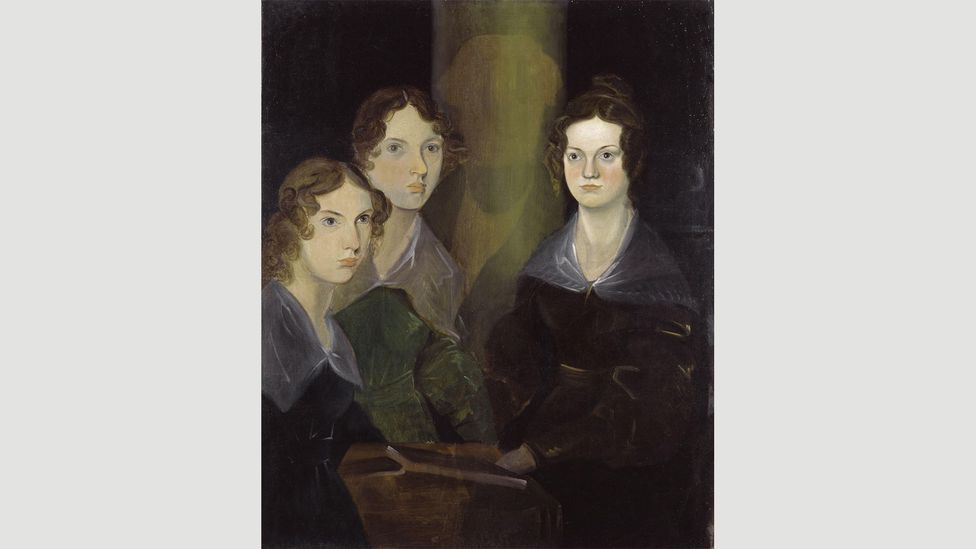 Branwell Brontë painted this portrait of himself with his sisters – but later attempted to erase himself from the picture
