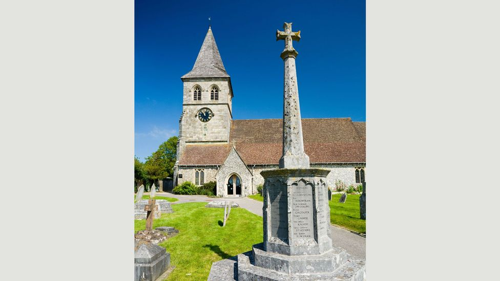 In small villages around England, war memorials are engraved with lists of men who never came back from the trenches (Credit: Alamy Stock Photo)