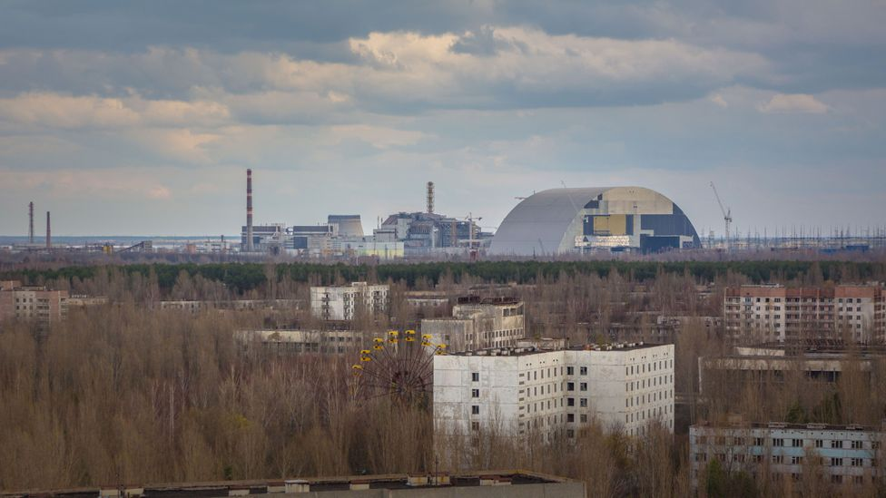 The sarcophagus - or New Safe Confinement - will seal in some of the most dangerous waste material in the world for 100 years (Credit: Anton Skyba)