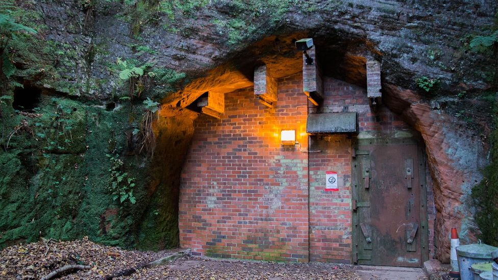 The Adit A entrance, used when the tunnels were turned into a nuclear bunker, is the entrance which volunteers use today (Credit: William Park)