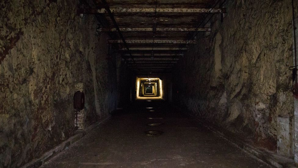One of the main tunnels running through Drakelow (Credit: William Park)