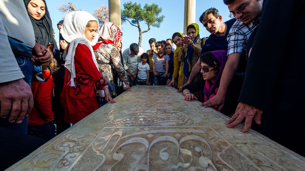 The tomb of the poet in the Iranian city of Shiraz is a popular tourist destination (Credit: Getty Images)