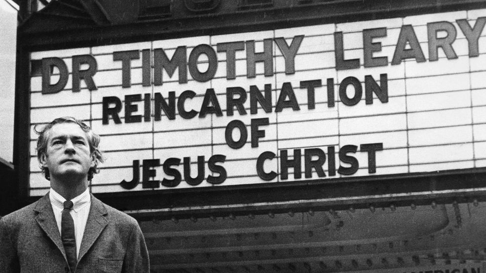 Timothy Leary's philosophy of mind expansion through psychedelic drugs made him a messiah of the 1960s counterculture (Credit: Alamy)