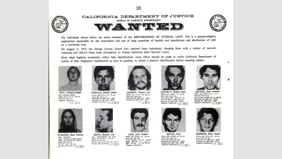The members of the Brotherhood saw themselves in a quest for human emancipation; law enforcement officials saw it differently (Credit: California Department of Justice)