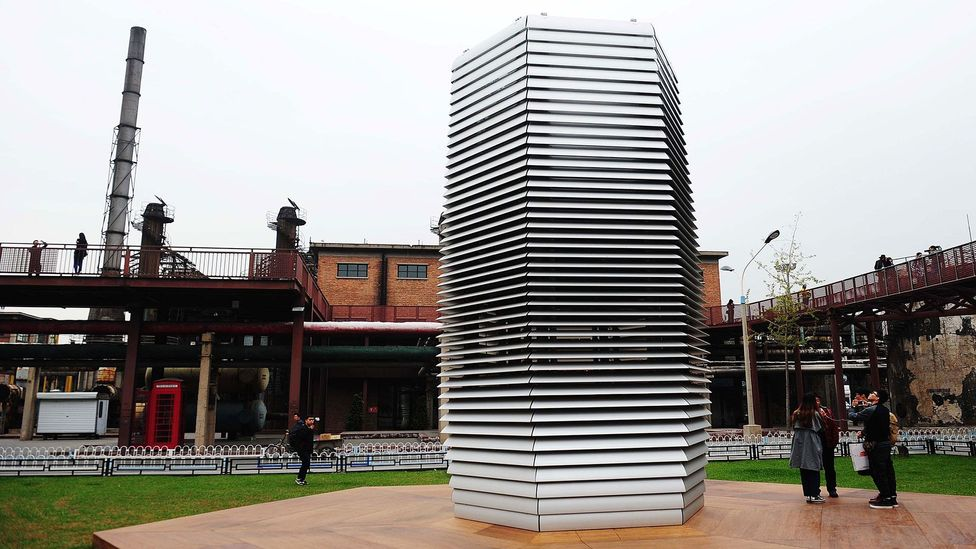 """The """"Smog Free Tower"""" in Beijing can reportedly clear the pollution from an area the size of a football pitch (Credit: Getty Images)"""