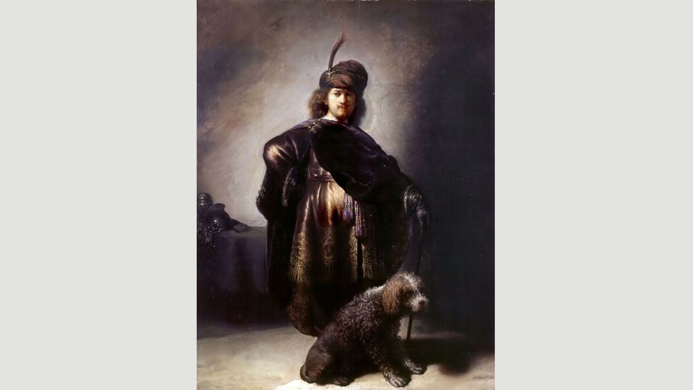 Dutch master Rembrandt van Rijn painted himself in different costumes, as in Self-portrait in Oriental Attire With Poodle (1631) (Credit: Wikimedia)