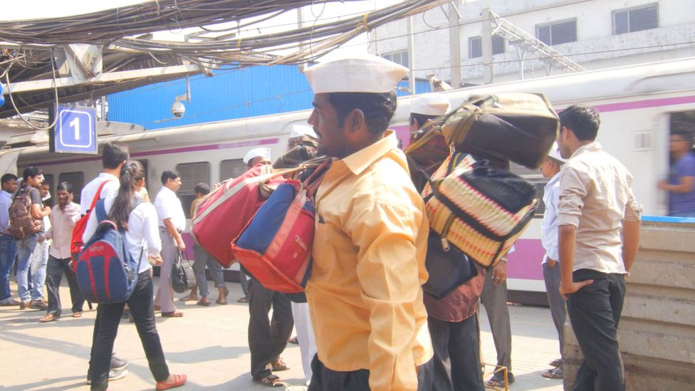 Despite more collaborations with online start-ups, the dabbawalas do not expect their core business to change (Credit: 42fps Productions)