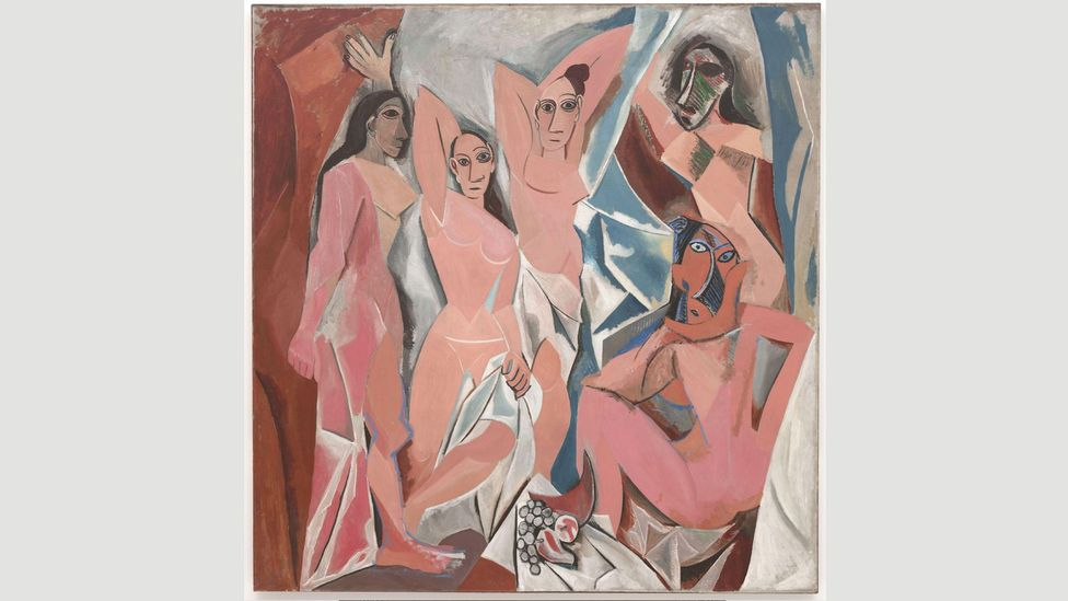 Picasso persuaded his mistress, Fernande Olivier, who featured in many of his paintings including les Demoiselles d'Avignon, to go with him (Credit: Wikipedia)