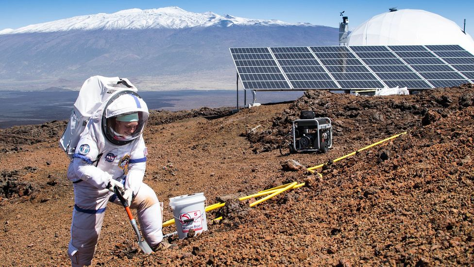 Volunteers spent 70 days living in a dome on a lava field in Hawaii for the Hi-Seas experiment to mimic life on Mars (Credit: Neil Scheibelhut/Hi-Seas/University of Hawaii)