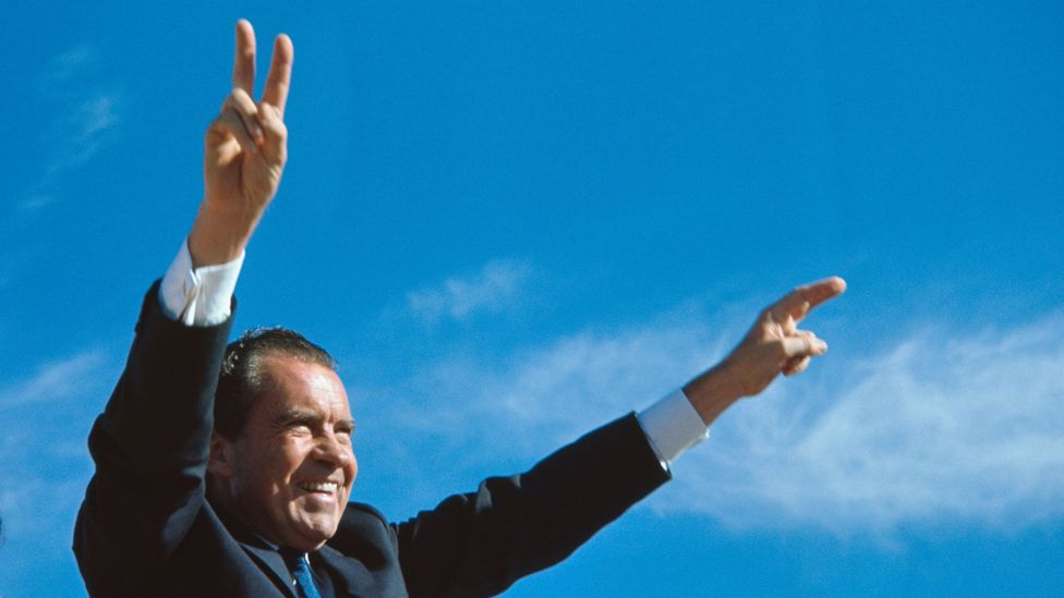 US President Richard Nixon experimented with giving people a universal basic income in the 1960s (Credit: Getty Images)