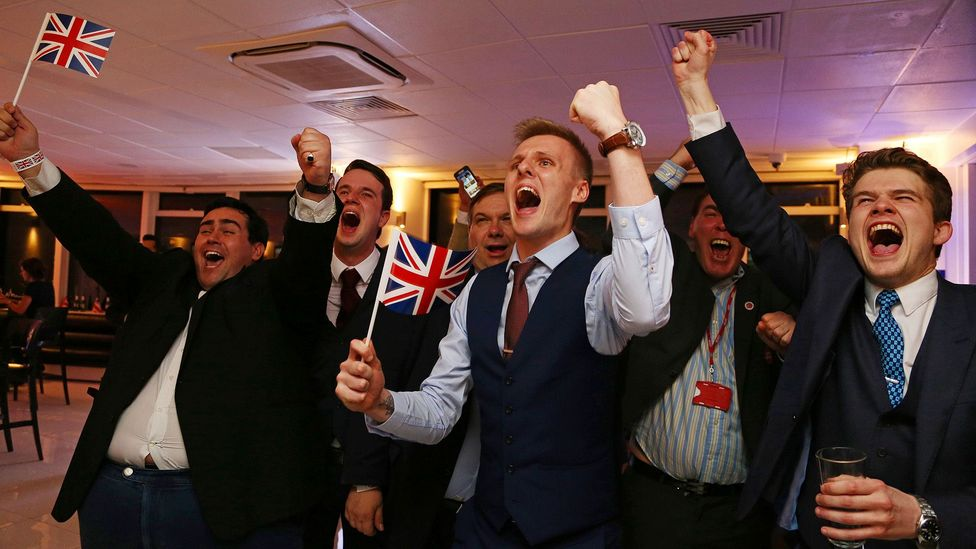 Leave supporters cheer as the results come in at a EU referendum party in central London in 2016 (Credit: Getty Images)
