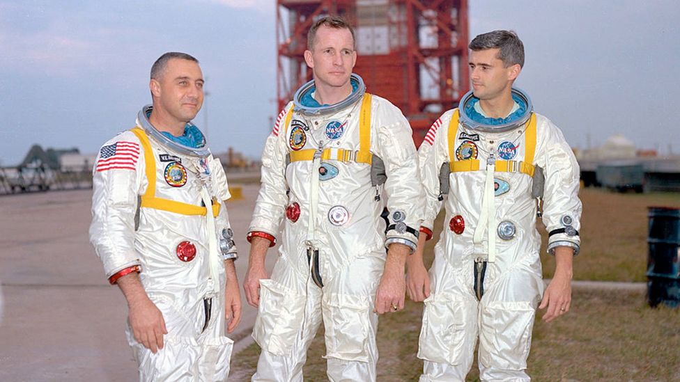 The three-man crew were taking part in what was expected to be a routine test (Credit: Nasa)