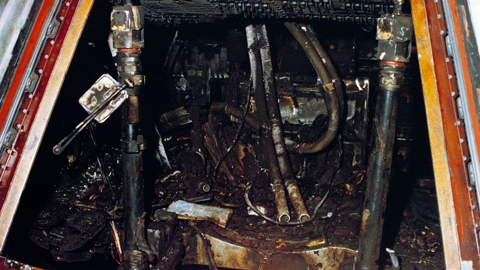 The fire gutted the inside of the capsule (Credit: Nasa)
