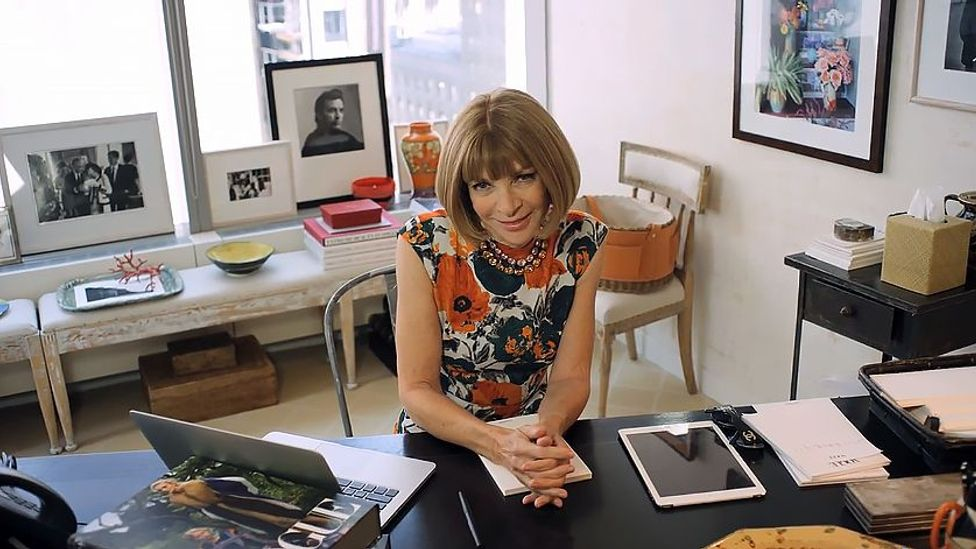 Some of the world's most successful people dress their work spaces with personal knick-knacks (Credit: Vogue)