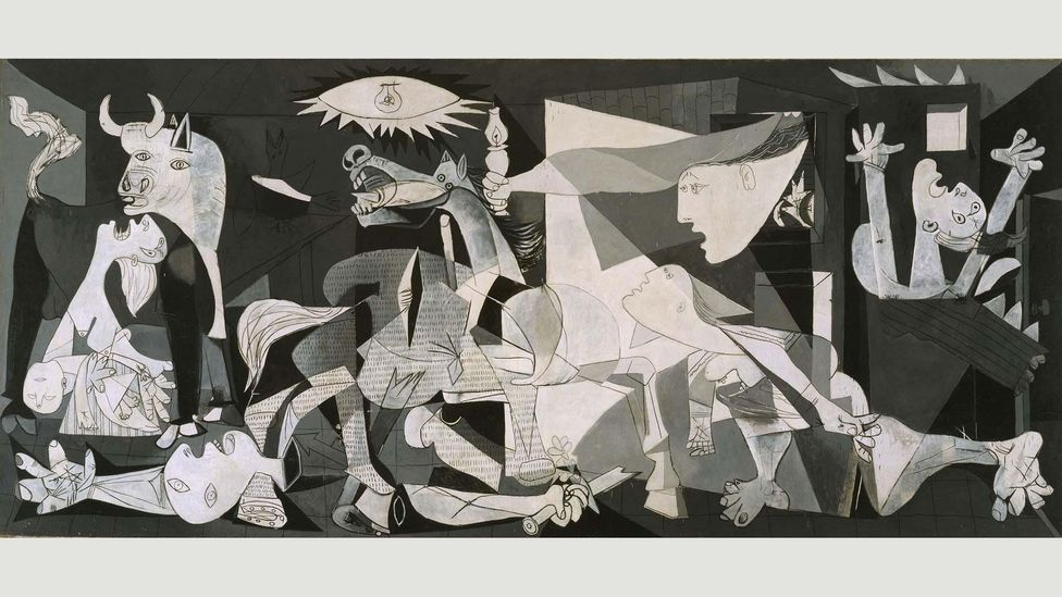 Inspired by the bombing of the Basque city, Picasso's mural Guernica is one of the most famous anti-war paintings in history (Credit: Museo Nacional Centro de Arte Reina Sofía)