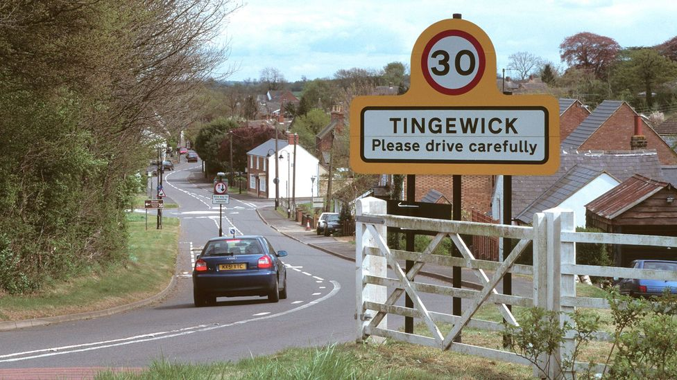 Installing gate-like structures at the 'entrances' to towns can significantly reduce the speed of cars (Credit: Alamy)