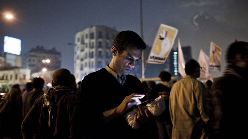 Egypt turned off its internet during the Arab Spring uprising in 2011 to make it more difficult for protesters to coordinate their activity (Credit: Getty Images)