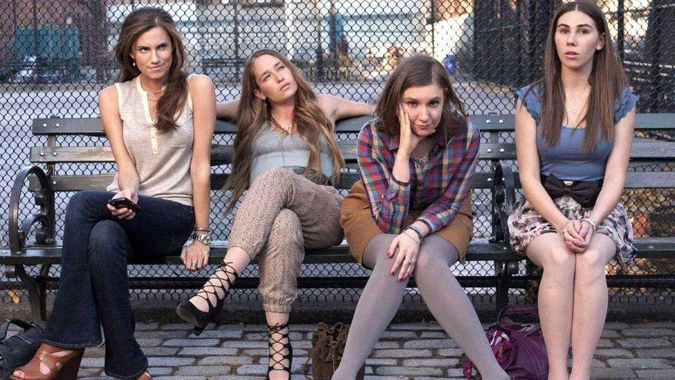 When Girls made its debut in 2012, it seemed radical that all four of its main characters were unlikeable and neurotic screw-ups (Credit: HBO)