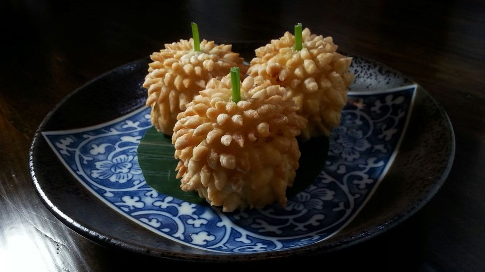 One of Pichet Ong's pastry creations: Durian Puff Dim Sum (Credit: Alan Battman)