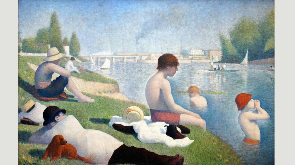 Bathers were an important subject for 19th and 20th Century artists, from Renoir and Seurat (whose Bathers at Asnières is shown here) to Cezanne and Matisse (Credit: Alamy)