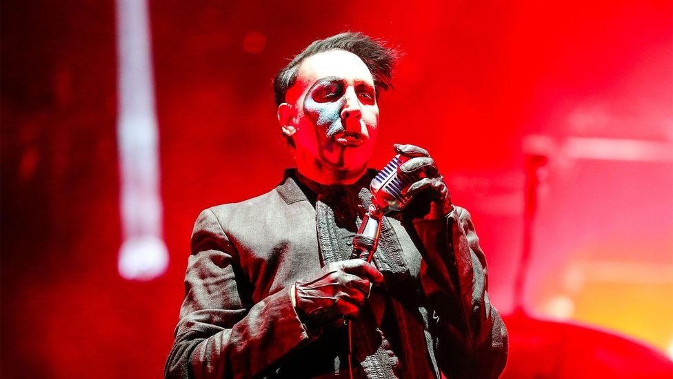 Marilyn Manson's music has been blamed for youth violence - yet this does not tally with psychological research (Credit: Alamy)