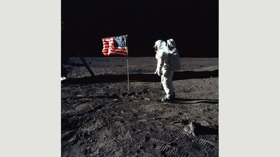 A notorious conspiracy theory centres on the Apollo Moon Landings between 1969 and 1972, and the NASA photos that some believed were faked (Credit: Alamy)