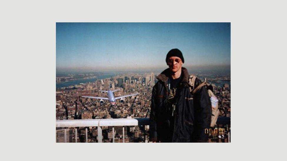 The 'Tourist Guy' photo was found to be a fake – it was actually taken in 1997 by a Hungarian tourist who digitally altered it after 9/11 (Credit: Wikipedia)