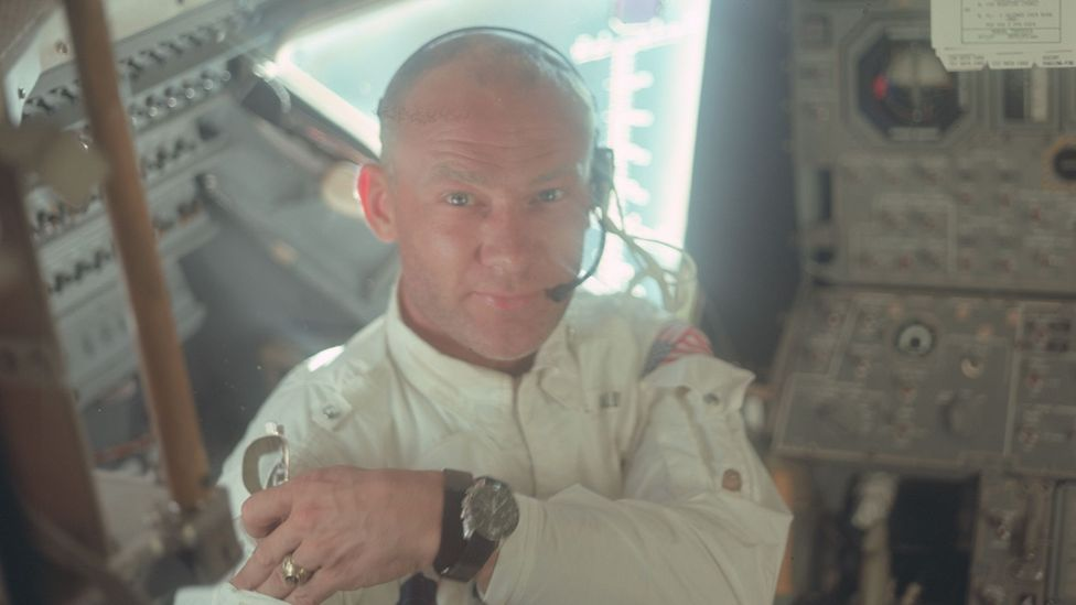 Buzz Aldrin may have been the second man to walk on the moon, but he was the first to drink wine there (Credit: Nasa)