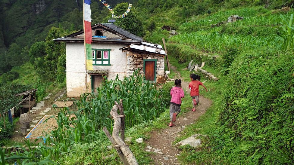 The picturesque village in Nepal's Sindupalchowk District is home to around 60 families (Credit: Amrit Sharma)