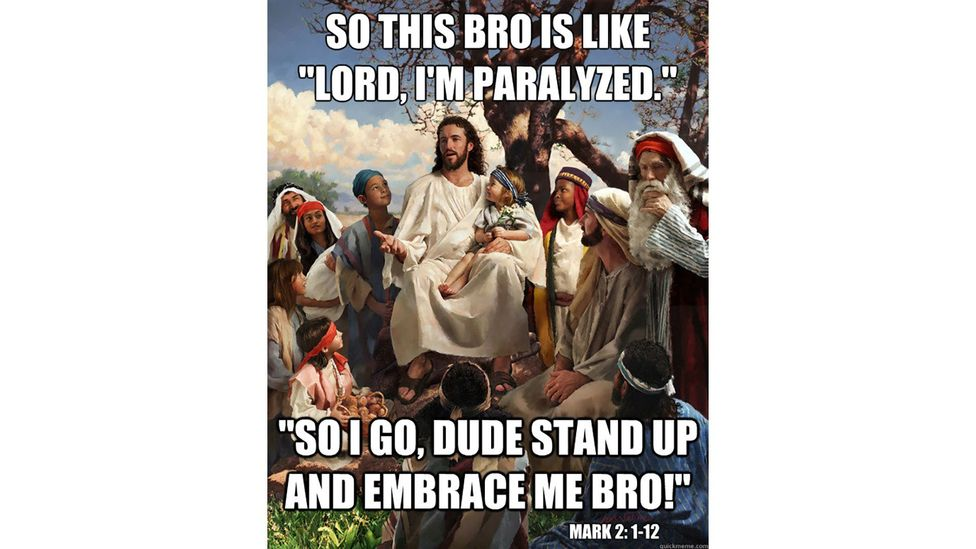 Many religious memes started as jokes but people also use them to provoke debate about religion and affirm beliefs