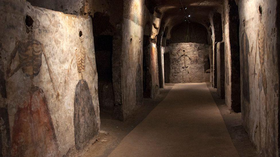 Beneath the Basilica of Santa Maria della Sanità lies this gallery of ghoulish portraits (Credit: Amanda Ruggeri)