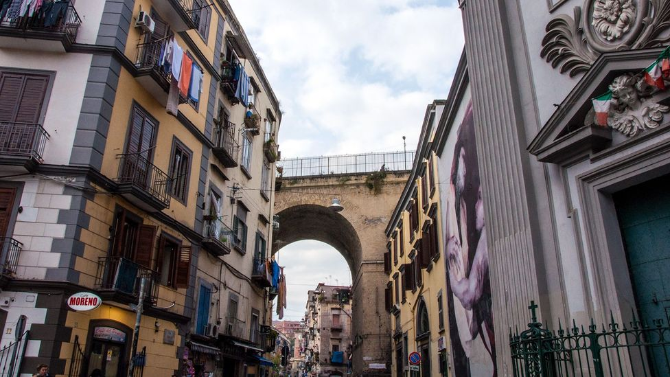 Once outside of the city walls, today Rione Sanità is one of the city's most colourful, bustling quarters (Credit: Amanda Ruggeri)
